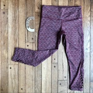 Prana Heather Burgundy Cropped Yoga Pants